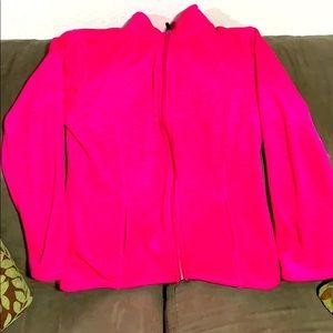Like new Women's hot pink zip up sweat shirt!